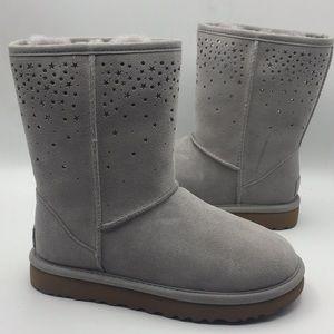 UGG Classic Short Star Girl Grey Short Boots